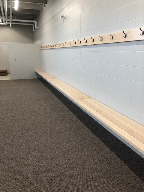 Photo of one of the new Arena Dressing ROoms