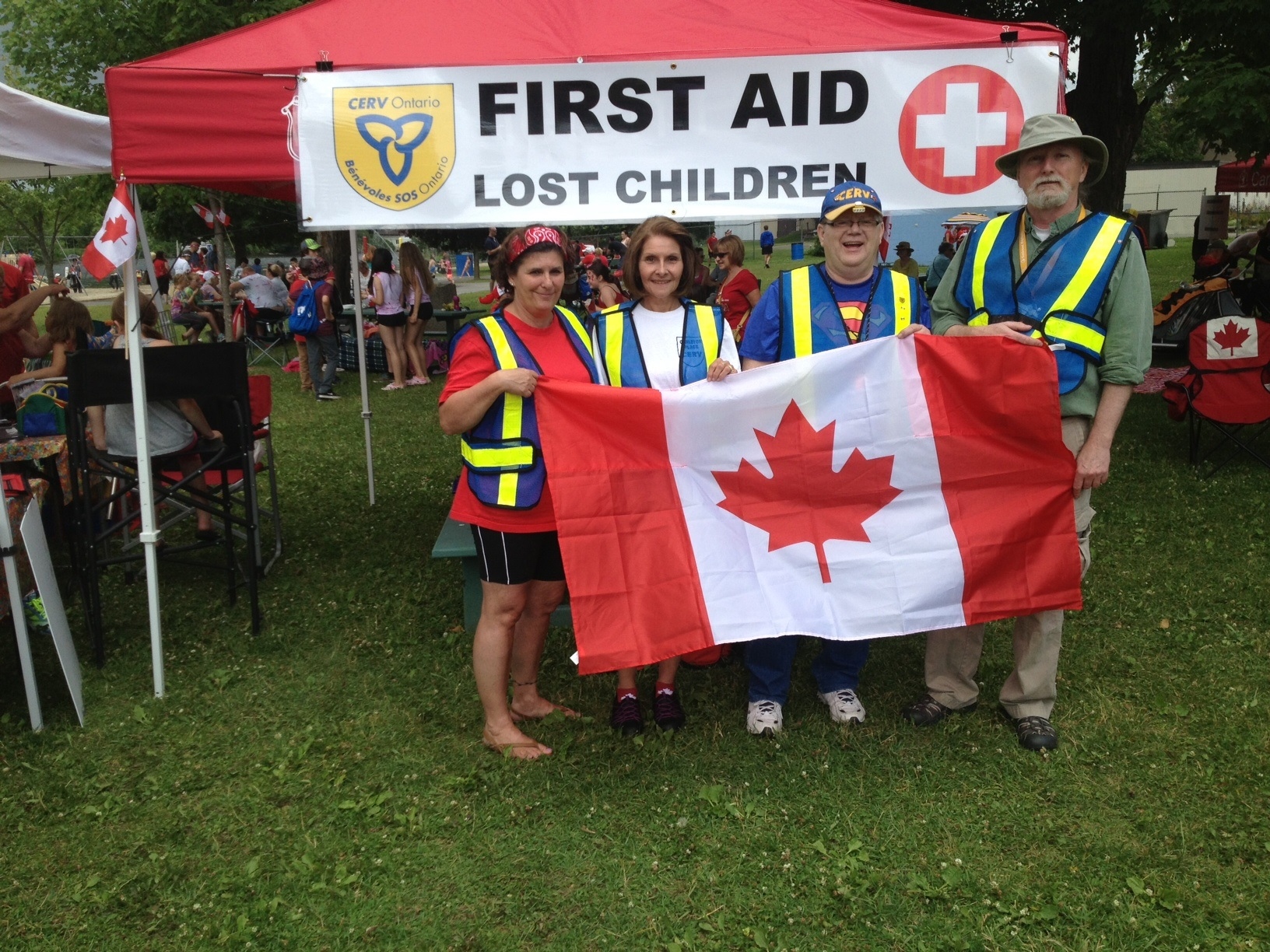Image of CERV volunteers on Canada Day